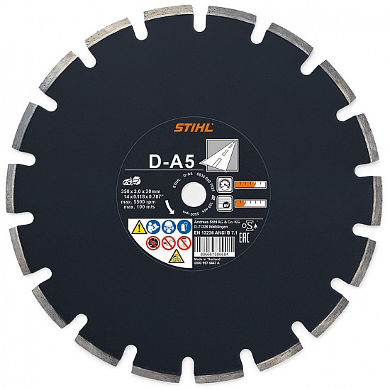 STIHL Diamantový rozbrusovací kotúč - Asfalt (A) D-A80 350 mm