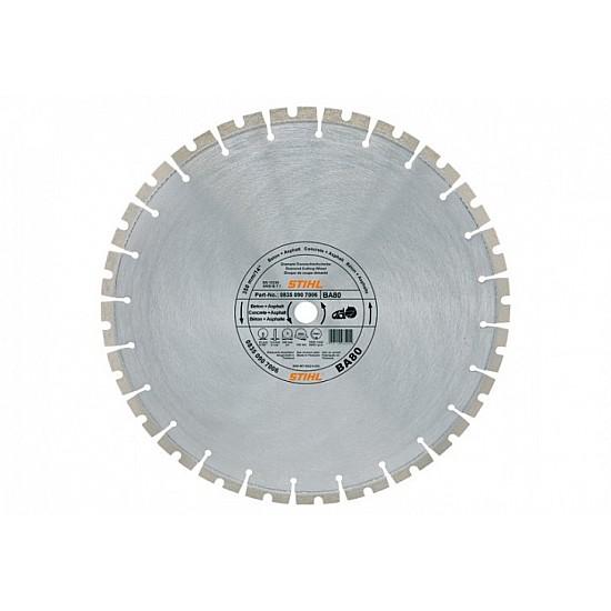 Diamantový rozbrusovací kotúč - Betón/Asfalt (BA) 300 mm D-BA80