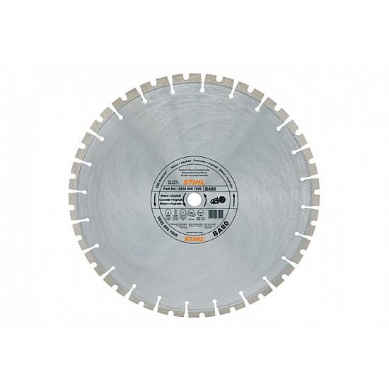 STIHL Diamantový rozbrusovací kotúč - Tvrdé horniny/betón (SB) 350 mm D-SB80