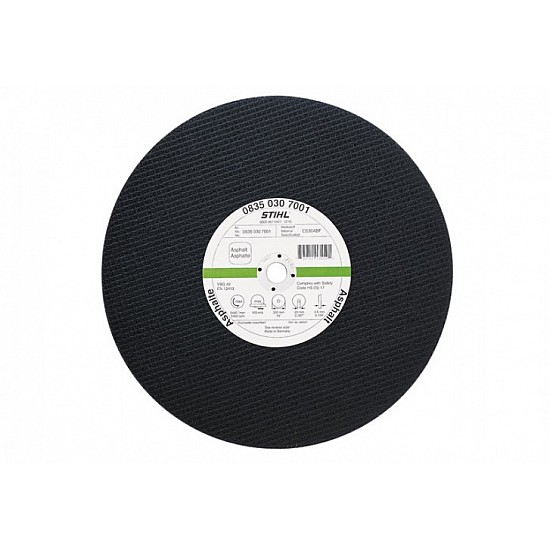 Rozbrusovací kotúč - Asfalt/kujná liatina ø 300 x 4,0 mm